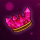Hot Pink Crystal Crown (Permanent)